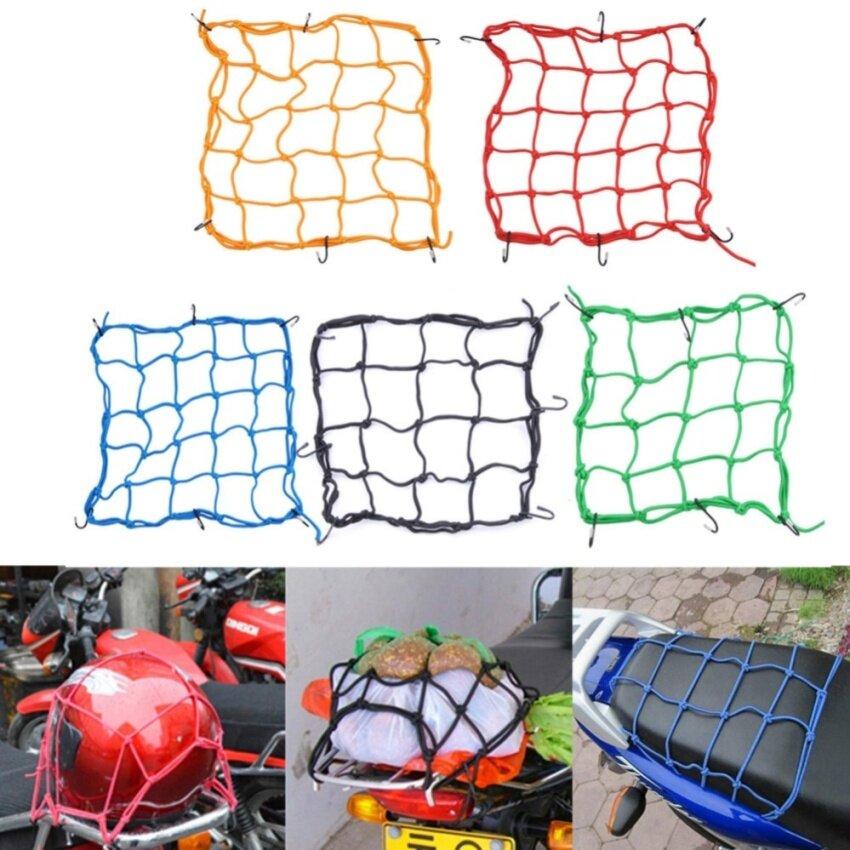 Motorcycle Helmet Net Mesh for Storage Carrier Bags,Cargo with 6 Metal Hook (40*40cm ) - intl