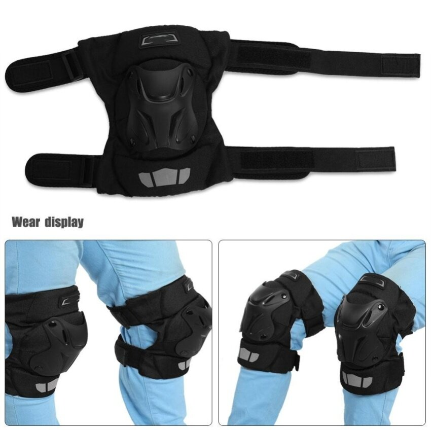 Motorcycle Motocross ATV Knee Pads Breathable Kneelet Knee Brace Protective Armor Set - intl