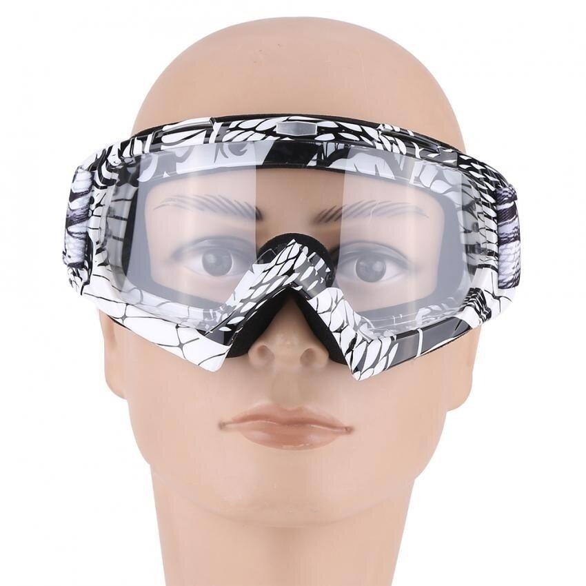Motorcycle Motocross Dirt Bike Off-Road Racing Goggles Ski Glasses Eyewear QL036 Clear-Lens - intl