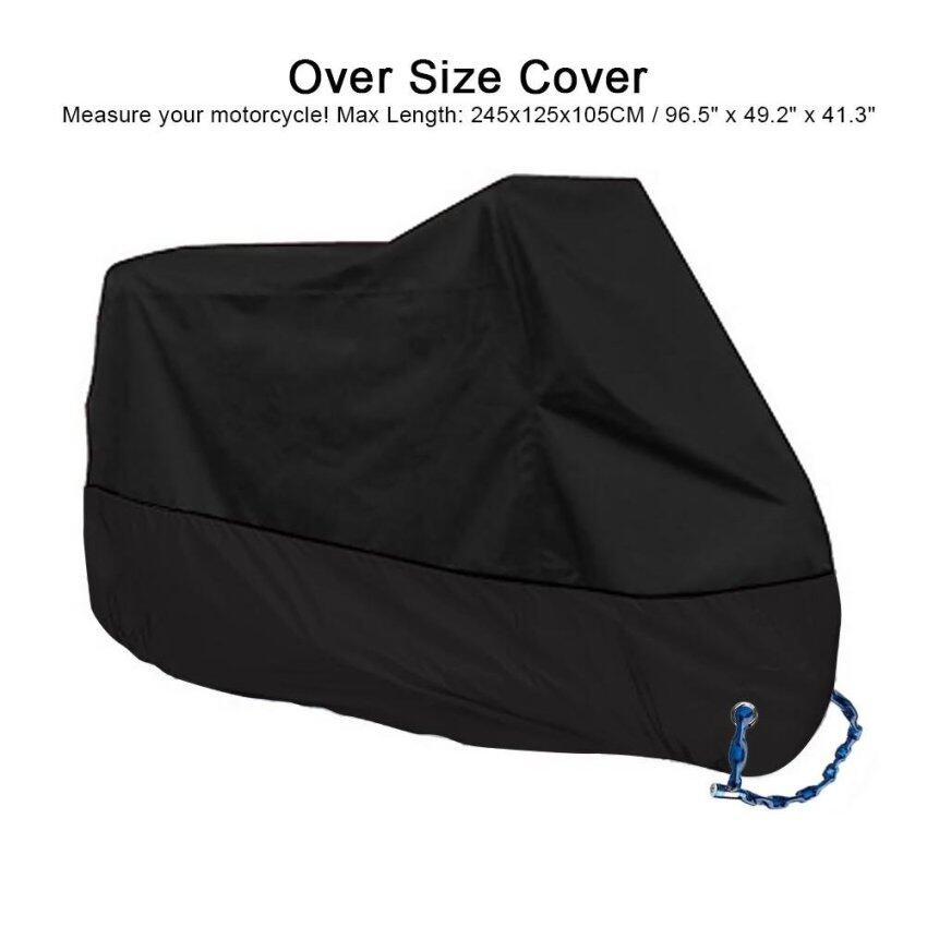 Motorcycle Waterproof Cover Sun Shade Protective Motorbike Case Rain Protection 190T polyester 245CM XXL Black - intl