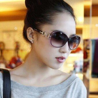 MU Womens Fashion Shades Oversized Eyewear Classic Designersunglasses(WhiteBlackRedWine RedBrownGreyPurpleLeopard) - intl