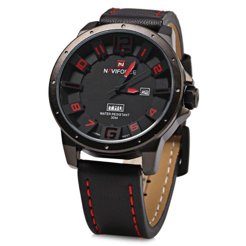 NAVIFORCE NF9061M นาฬิกาข้อมือนาฬิกาควอทซ์คล้ายคลึงมนุษย์ปูรัดวันที่ ...
