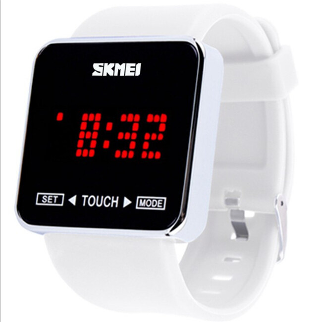 New Colorful Rubber Jelly Digital Watches Women Ladies Girl Men Touch Screen Wrist Led Watch,ladies Fashions Waterproof Watches(White) - intl