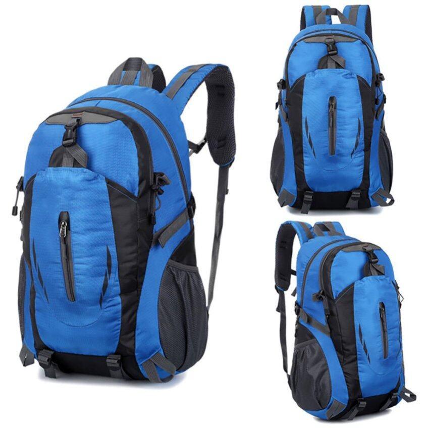 New Outdoor Hiking Camping Waterproof Nylon Travel Luggage Rucksack Backpack Bag -Blue - intl