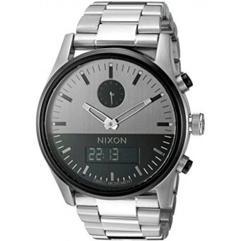 Nixon Mens A932131 Duo Analog-Digital Display Swiss Quartz Silver Watch - intl