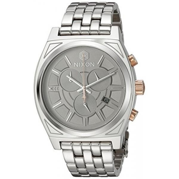 Nixon Mens Star Wars Phasma Quartz Stainless Steel Casual Watch, Color:Silver-Toned (Model: A972SW2445-00) - intl image