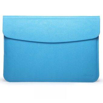 "Notebook PU Leather Flap Sleeve Case Bag Pouch Cover for Macbook Air 11.6"" Laptop (Blue)(Export)"
