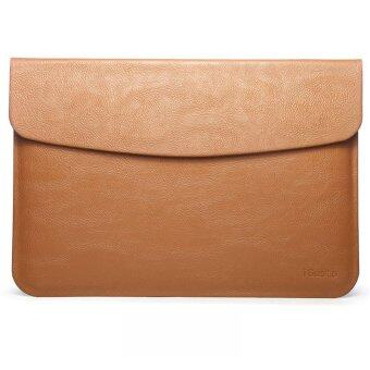 "Notebook PU Leather Flap Sleeve Case Bag Pouch Cover for Macbook Air 11.6"" Laptop (Brown)(Export)"
