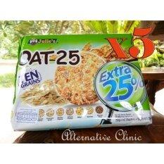 คุ๊กกี้ Oat-25 ten grains ธัญพืช คุ๊กกี้อร่อย แถมได้ประโยชน์จากธัญพืช 10 ชนิด อร่อยดี มีประโยชน์ 200 g. + 50 g. 5 ถุง OAT 25 Ten Grains contains 25% Australian Rolled Oat blended with nine whole grains and seeds .200 g. + 50 g. 5 sachets