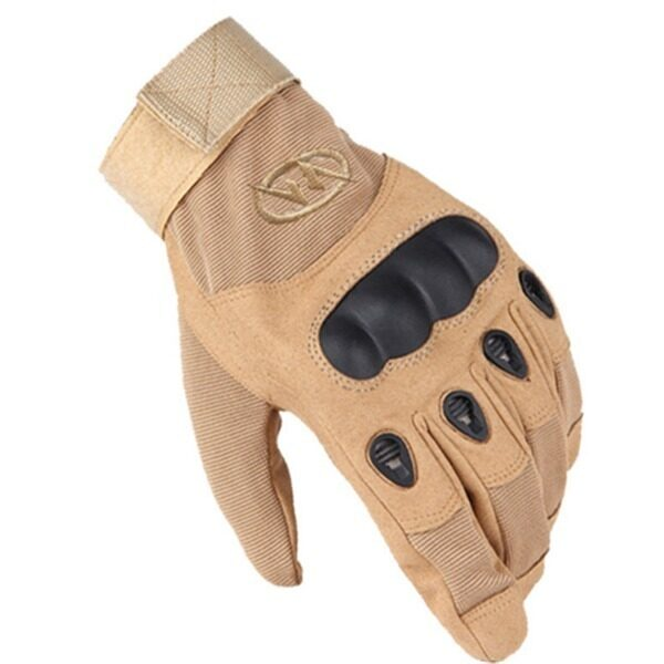ขาย Outdoor Tactical Combat Training Motorcycle Full Finger Slip Gloves(Khaki) - Intl