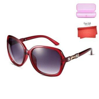 Oversize Sunglasses Women Round 2017 Fashion Ladies Luxury VintageBrand Designer Retro Sun Big Glasses - intl