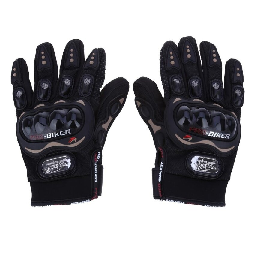 Paired Full Finger Motorcycle Gloves Motorbike Outdoor Sports Riding Breathable Protective Gears - intl