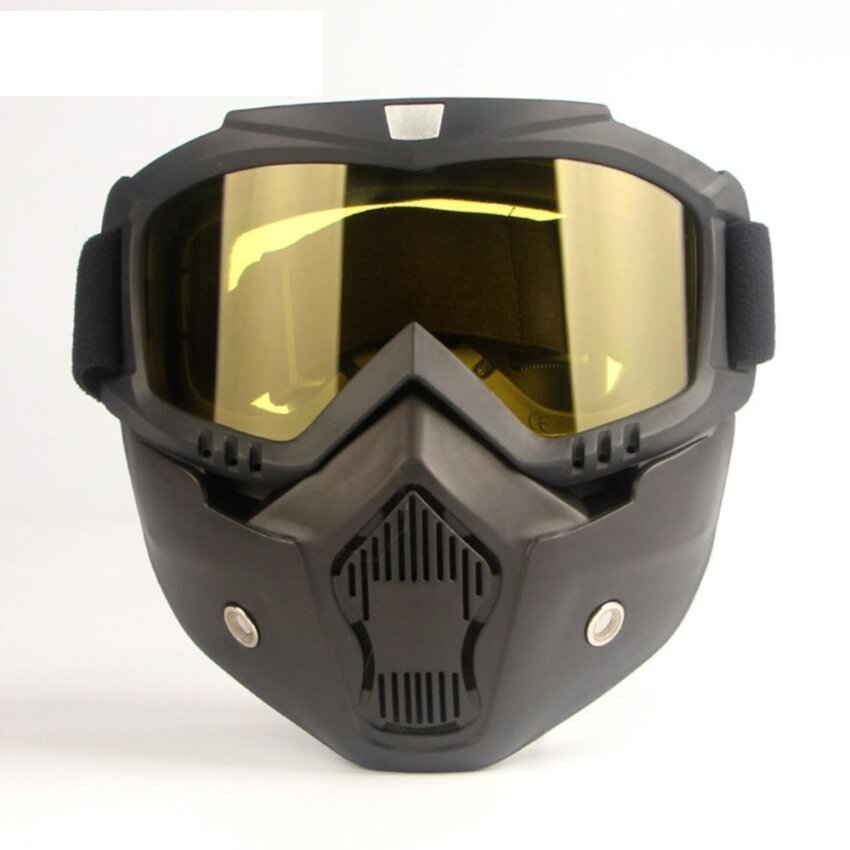 PAlight Motorcycle Helmet Mask Detachable Filter Mouth Goggles Eyewear - intl