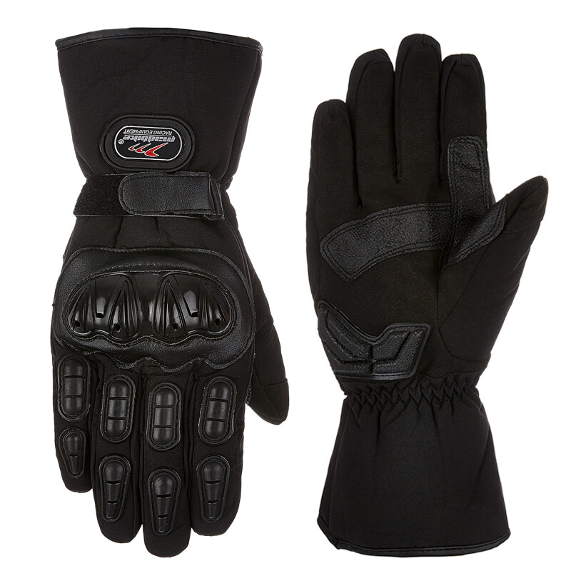 Pandaoo Motorcycle Gloves Winter Warm Waterproof Windproof Protective Gloves 100% Waterproof Guantes Luvas (Black) - Intl
