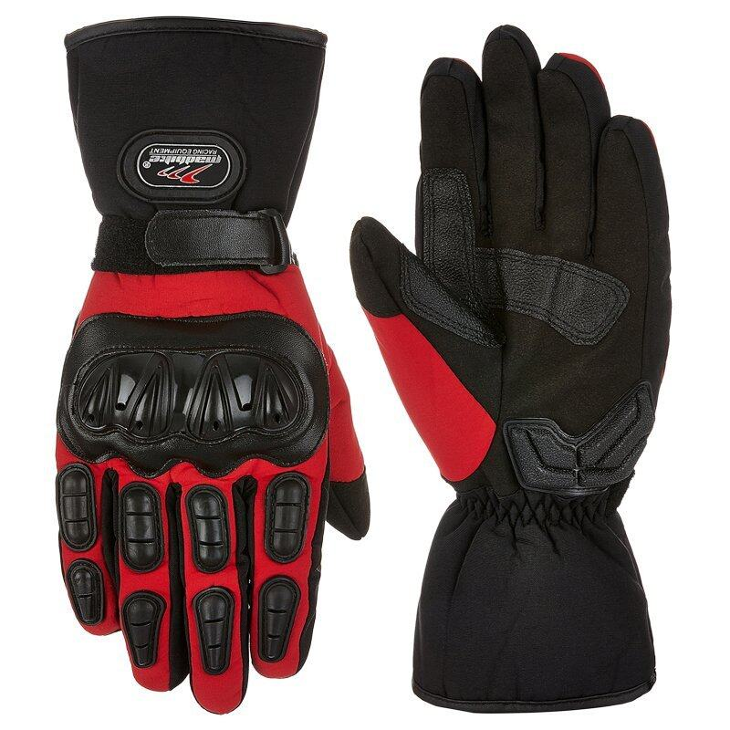 Pandaoo Motorcycle Gloves Winter Warm Waterproof Windproof Protective Gloves 100% Waterproof Guantes Luvas (Red) - Intl