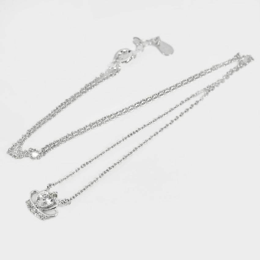 Parichat Jewelry สร้อยคอพร้อมจี้เพชรสวิสCZ เงินแท้925 ความยาว 17 นิ้ว ...