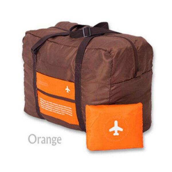 Portable Waterproof Travel Bag Clothes Organizer Pouch Storage Suitcase Luggage 32L(Oran ...