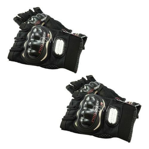 Pro Biker ถุงมือมอเตอร์ไซค์ สนับแข็ง ตัดนิ้ว สีดำ ไซส์ XXL จำนวน 2 คู่