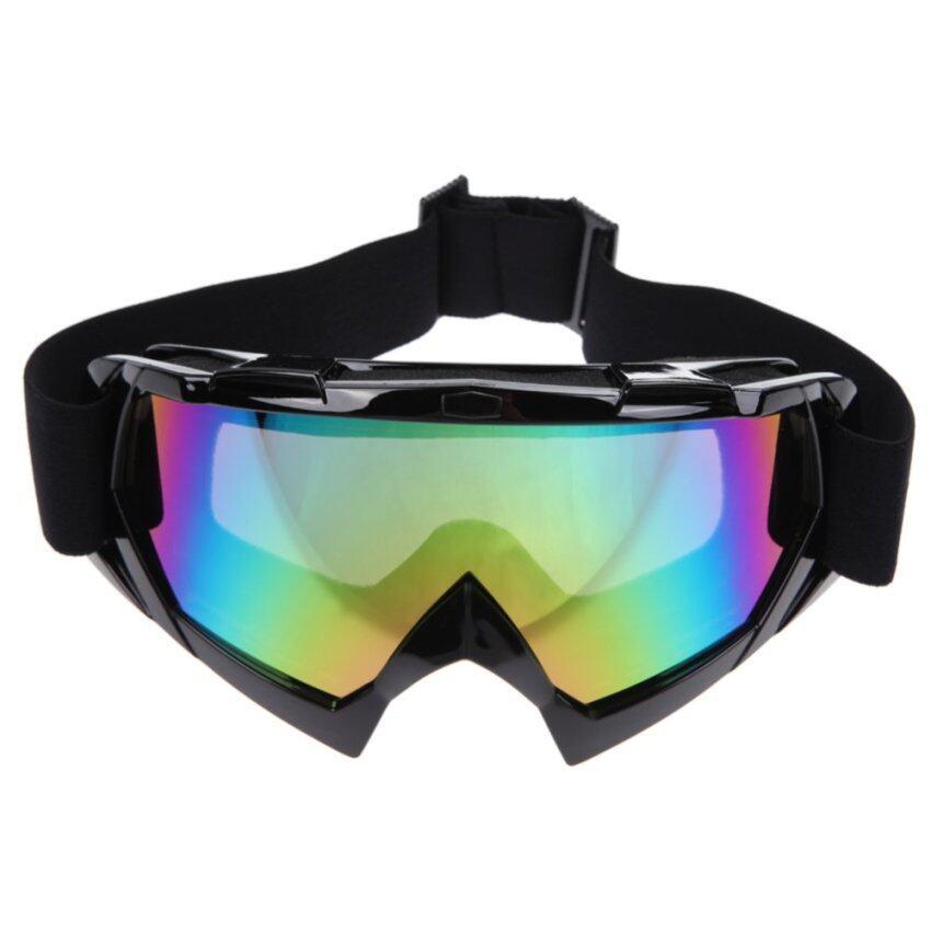 รถจักรยานยนต์สกีแอนตี้ยูวีสวมแว่นตาสีดำ