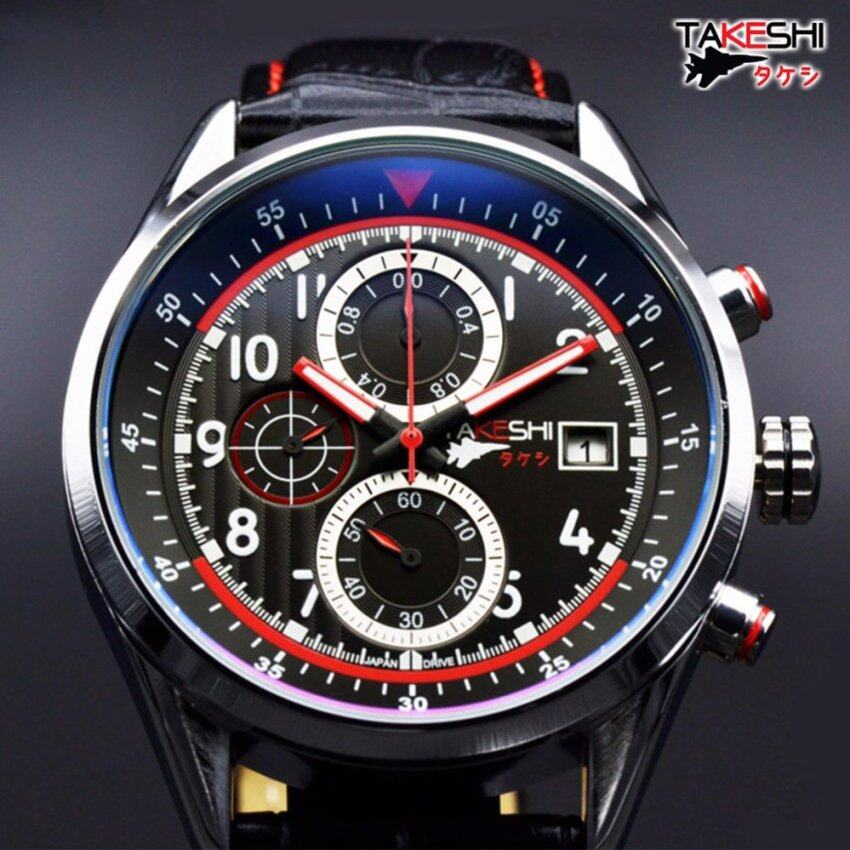 ด่วน รับประกันศูนย์ 3 ปี - TAKESHI นาฬิกาผู้ชาย แฟชั่น กันน้ำ รุ่นAutoPilot TK01SL Professional Japan Drive กำลังลดราคา
