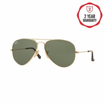 Ray-Ban แว่นกันแดด รุ่น Aviator Large Metal RB3025 - Gunmetal (004/51) Size 62 Crystal Brown Gradient