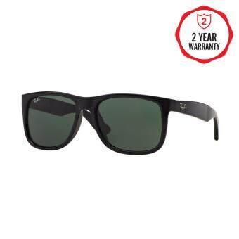 Ray-Ban แว่นกันแดด รุ่น Justin RB4165F - Black Rubber (622/T3) Size 55 Polar Grey Gradient