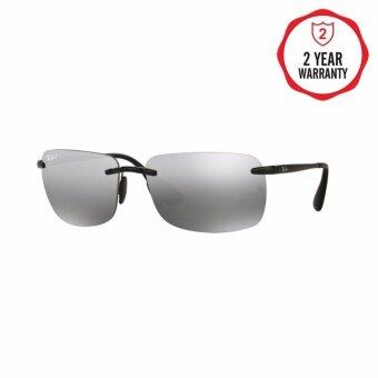 Ray-Ban แว่นกันแดด รุ่น - RB4255 - Shiny Brown (604/6B) Size 60 Brown Mirror Gold Polar
