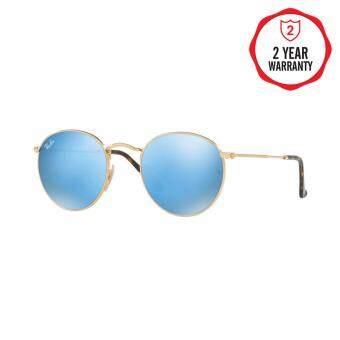 Ray-Ban แว่นกันแดด รุ่น Round Metal RB3447N - Shiny Gold (001/Z2) Size 50 Copper Flash