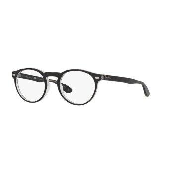Ray-Ban แว่นสายตา รุ่น  - RX5283F - Shiny Black (2000) Size 51 Demo Lens