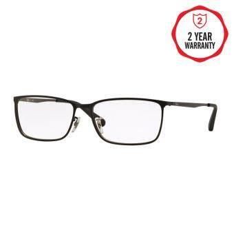 Ray-Ban แว่นสายตา รุ่น - RX6348D - Top Mat Black On Mat Silver (2832) Size 57 Demo Lens