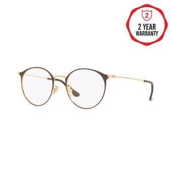 Ray-Ban แว่นสายตา รุ่น  - RX6378F - Gold/Shiny Brown (2905) Size 51 Demo Lens