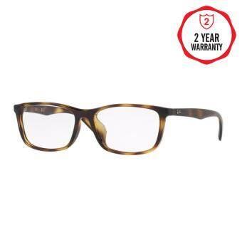 Ray-Ban แว่นสายตา รุ่น  - RX7102D - Shiny Black (2000) Size 56 Demo Lens