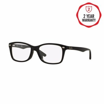 Ray-Ban แว่นสายตา รุ่น - RX5228F - Top Black On White/Red (2479) Size 53 Demo Lens
