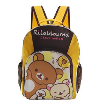 Rilakkuma กระเป๋าเป้ กระเป๋านักเรียนสะพายหลัง (สีเหลือง)