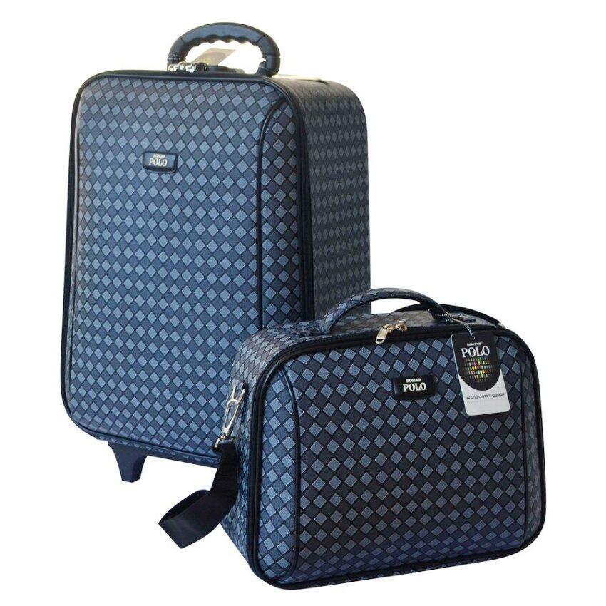Romar Polo กระเป๋าเดินทาง 20/14 นิ้ว เซ็ทคู่ Code 373-13 Square (Black)