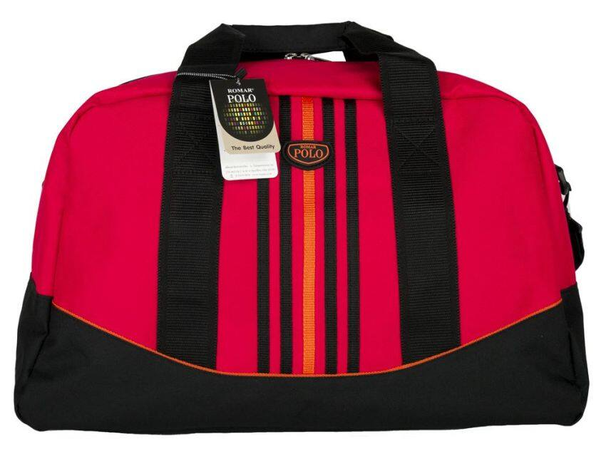 Romar Polo กระเป๋าเดินทาง กระเป๋าสะพาย กระเป๋าถือ 20 นิ้ว รุ่น Sport Curve 73420 (Black Red)