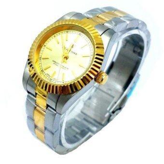 Royal Crown นาฬิกาข้อมือหญิง สายสแตนเลส ชุบทองอย่างดี รุ่น 3662L (Gold/Silver)