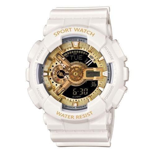 S SPORT นาฬิกาข้อมือ กันน้ำได้ ได้ทั้งชายและใส่หญิง - GP9210 (White/ Gold)