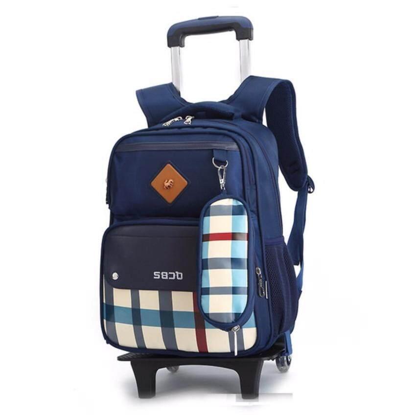 กระเป๋าเป้ล้อลาก School Bag สีน้ำเงิน ...