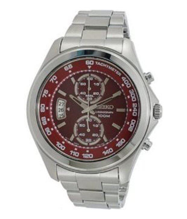 Seiko นาฬิกาข้อมือ รุ่น SNN253P1 - สีแดง/เงิน ...