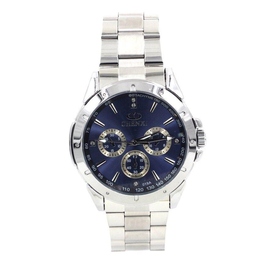 Sevenlight นาฬิกาข้อมือผู้ชาย - GP9133 (Silver/Blue) ...