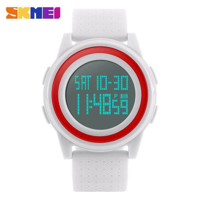 สั่งซื้อ SKMEI Fashion Casual Waterproof Watches Women Sport Watch With Very Comfortable Soft Band 1206 – White – intl คลิ๊กที่นี่ !!!
