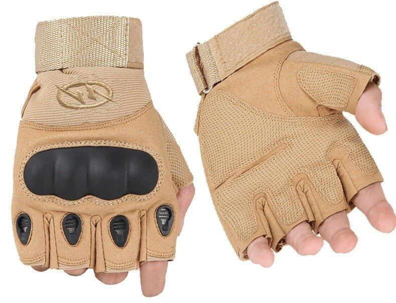 Sport Gloves Fingerless Tactical Gloves for Motocycle Cycling Gym Climbing XL (Yellow)