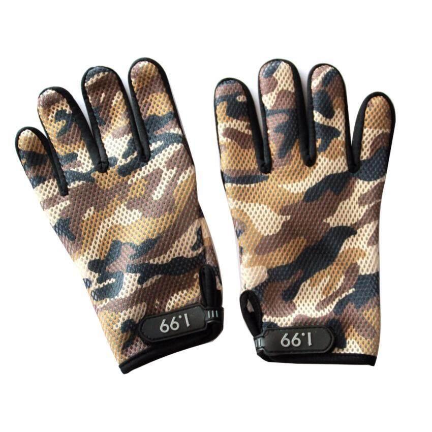 ถุงมือ(STAR-1) ลายทหาร สีน้ำตาล เต็มนิ้ว