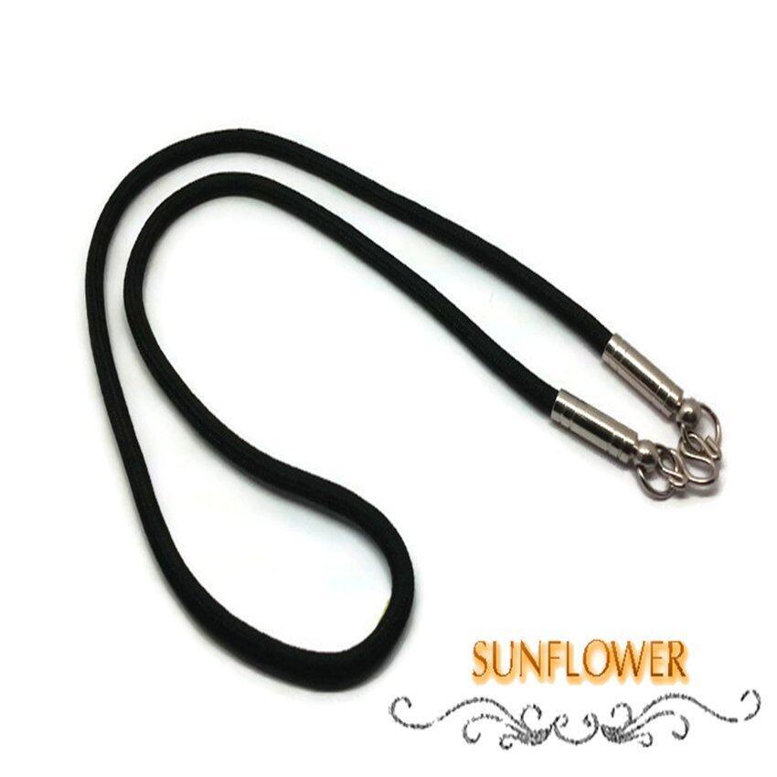 aaa Sunflower สร้อยคอ เชือกร่ม ตะขอโรเดียม ความยาว 24 นิ้ว Sbobet