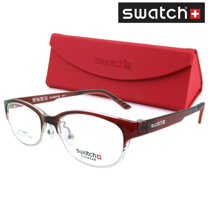 SWATCH แว่นตา สำหรับตัดเลนส์ Stainless Steel สีแดง Combination (MADE IN KOREA) ...