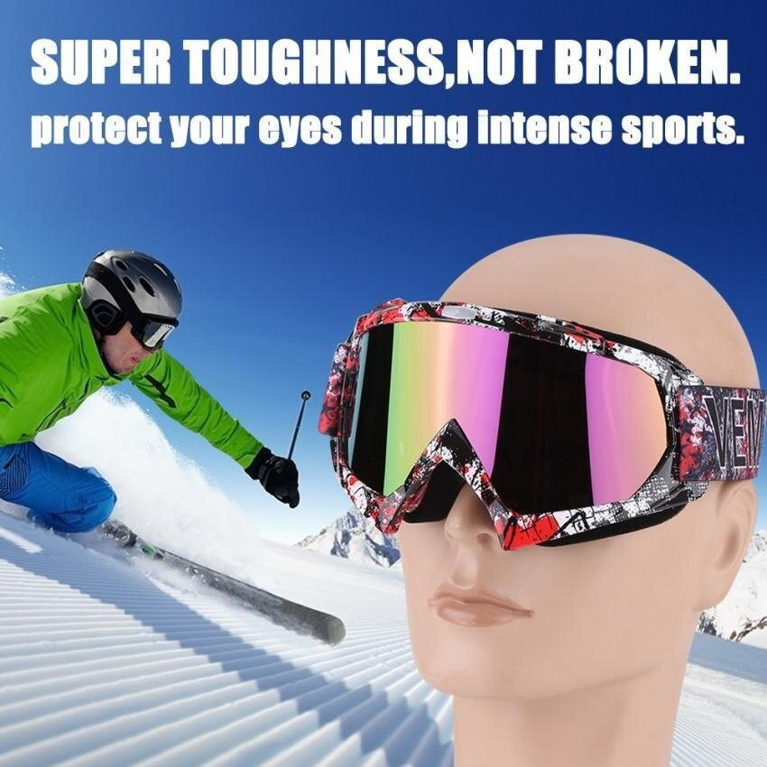 Sweatbuy Motorcycle Motocross Dirt Bike Off-Road Racing Goggles Ski Glasses Eyewear P932 Tinted-Lens - intl