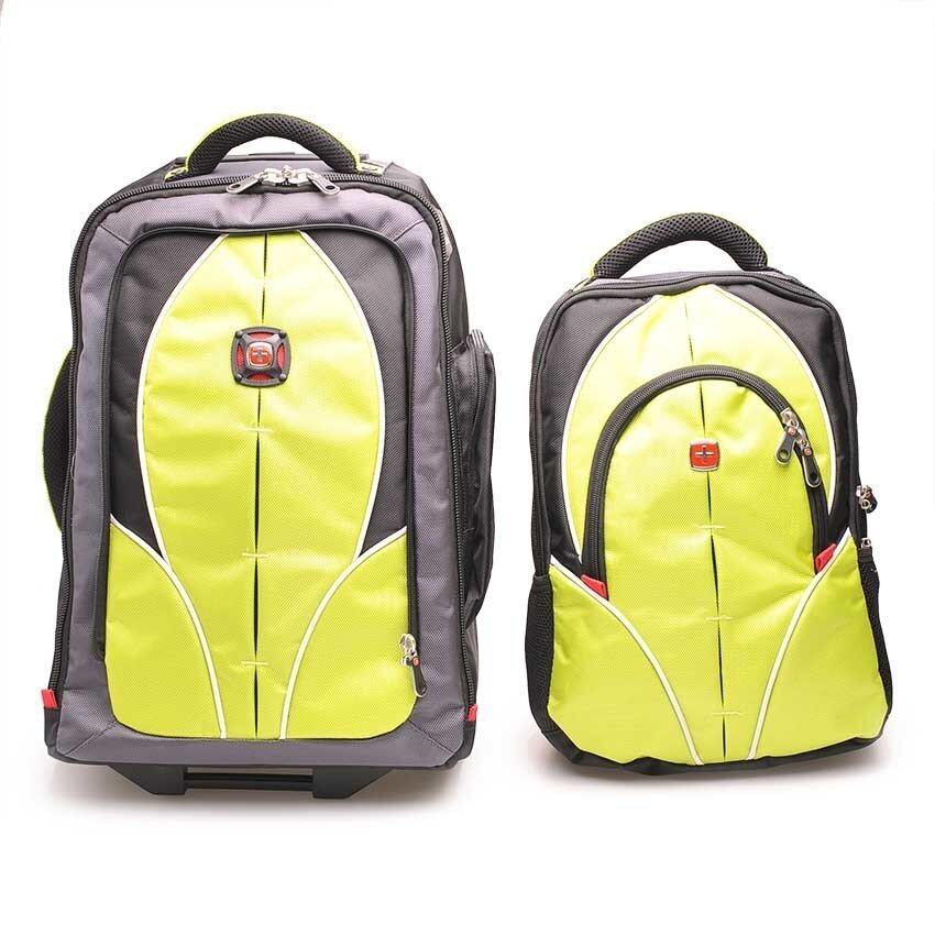 Swiss Gear Double Backpack with Trolley รุ่น KW-026 – สีSapphire ...
