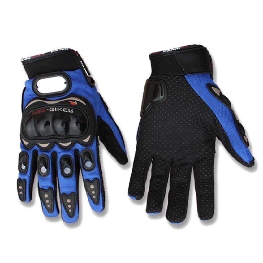 Sworld Motorcycle Gloves Motorbike Carbon Fiber Biker Bike Racing Full Finger Blue XL (Intl)