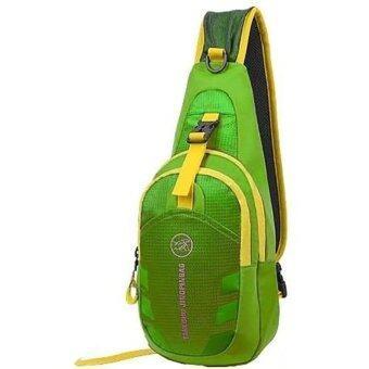 Tanluhu กระเป๋าคาดอก กระเป๋า สะพายไหล่ สะพายคาดอก Travel Shoulder Bag รุ่น D02N (สีเขียว)